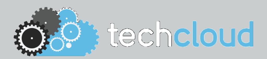 Tech Cloud Logo White